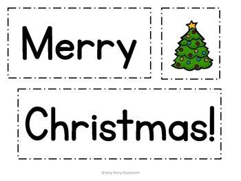 December Pocket Chart Fluency