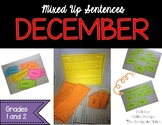 December Mixed Up Sentences - Reading, Writing, and Senten