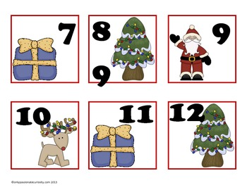 December Pocket Chart Calendar Cards