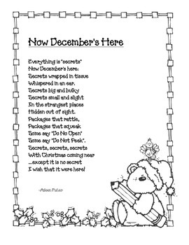 December Poem: Now December's Here