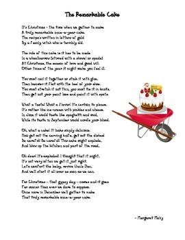 December Poem: The Remarkable Cake