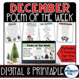 December Poem and Book Set