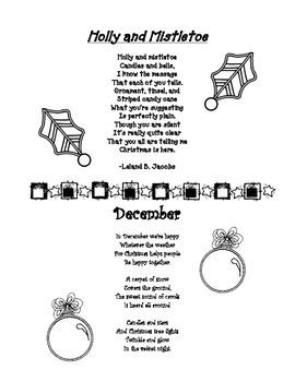 December Poems: Holly & Mistletoe and December