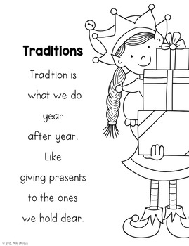 December Poems for Building Reading Fluency & Writing Stamina (K-1)