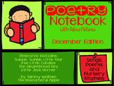 December Poetry with Rebus Pictures