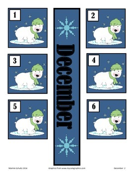 December Polar Calendar Pieces