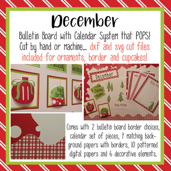December Pop Out Calendar with Print and Cut files