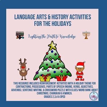 December Holiday Language Arts & History Activities
