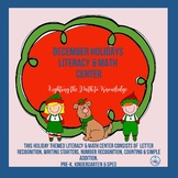December Literacy & Math Center, Pre K-K & SPED