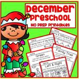 December Christmas Winter Preschool Printable Packet NO PREP - All Subjects