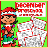December Christmas Winter Preschool Printable Packet NO PREP - All Subjects