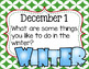 December Primary Journal Prompts