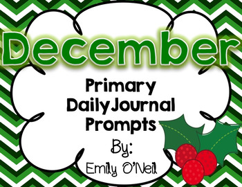 December Primary Journal Prompts