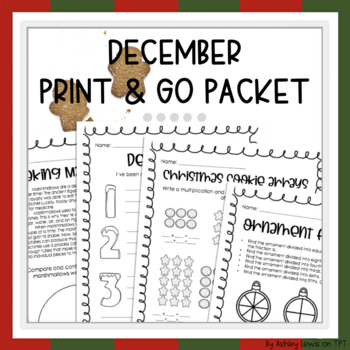 December Print & Go Activities Packet