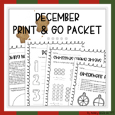 Christmas/December Activity Packet