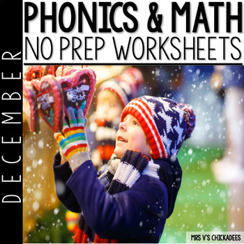 December Print & Go Pack: No Prep Common Core Aligned ELA