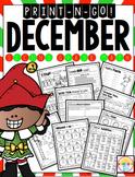 December Print N' Go 2nd Grade