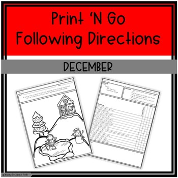 December Print 'N Go Following Directions Packet