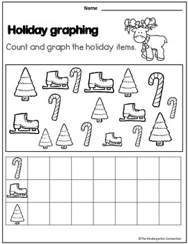 December Print - That's It! Kindergarten Math and Literacy Printables Sampler
