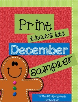 December Print - That's It! Kindergarten Math and Literacy