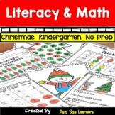 December Print and Go Kindergarten Math and Literacy