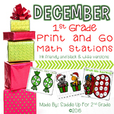 December Print and Go Math Stations