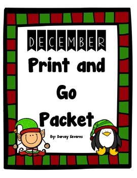 December Print and Go Packet