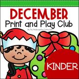 December Print and Play Club - Kindergarten