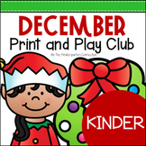 December Print and Play Club - Kindergarten