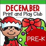 December Print and Play Club - Pre-K