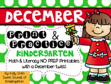 December Print and Practice! Kindergarten Math & Literacy