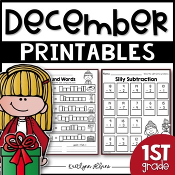 December Printables - First Grade Math and Literacy Packet