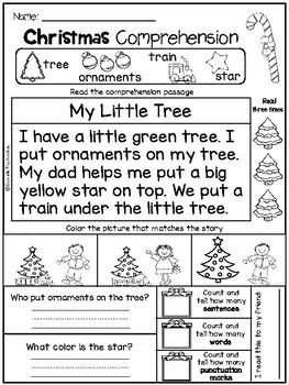 December Kindergarten Worksheets