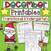 December Printables Math and Literacy Transitional Kindergarten