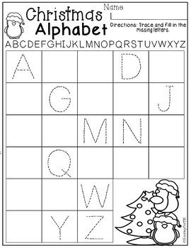 December Printables Math and Literacy Transitional Kindergarten