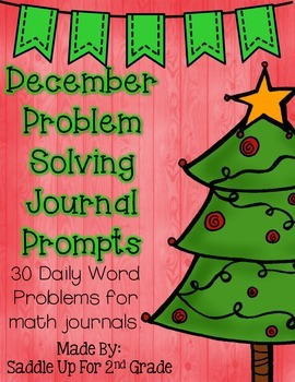 December Problem Solving Journal Prompts
