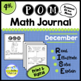 Math Problem-Solving - 4th Grade December POM Pack