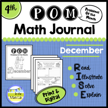 December Problems of the Month (POM) Math Pack - 4th Grade