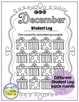 December Problems of the Month (POM) Math Pack - 5th Grade