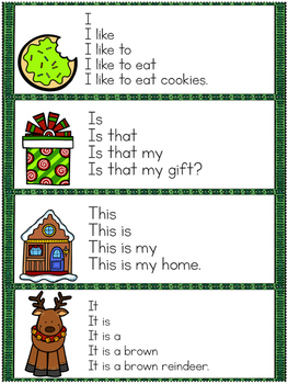 December Progressive Fluency Cards