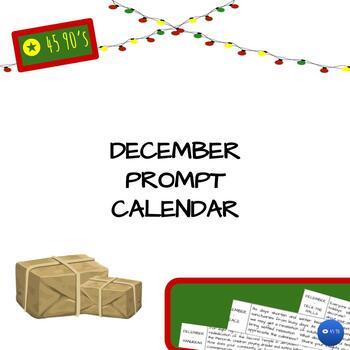 December Prompt Calendar