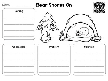 December QR Codes with Comprehension Sheets Bear Edition