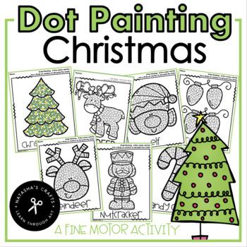 Q-Tip Painting December / Fine Motor Activity