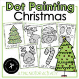 Q-Tip Painting December / Fine Motor Activity