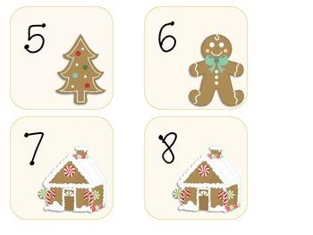 December Quatrefoil Calendar Set
