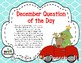 December Question of the Day Based on My Teaching Strategies