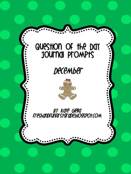 December Question of the Day Journal Prompts