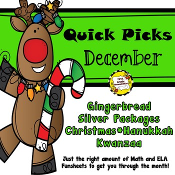 December Quick Picks: Budget-Friendly ELA and Math Funsheets