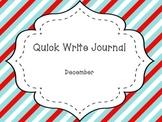 December Quick Write Journal