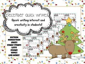 December Quick Writes